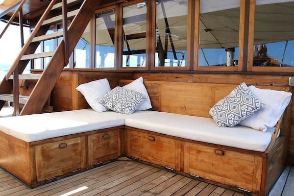Tiare's 10-Day Komodo Islands - Day Nine - Relaxing Corner On Board