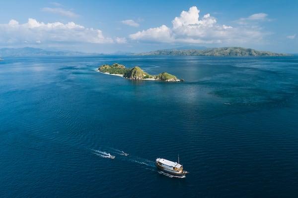 Rascal's 5-Day Komodo Islands - Day One - Rascal Drone View