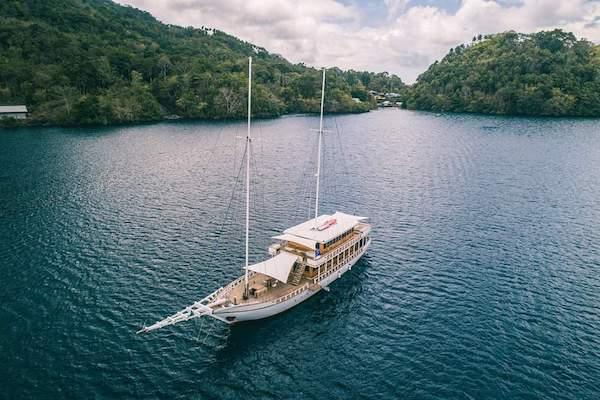 Fenides' 9-Day Komodo & West Komodo - Day One - Boat Drone View