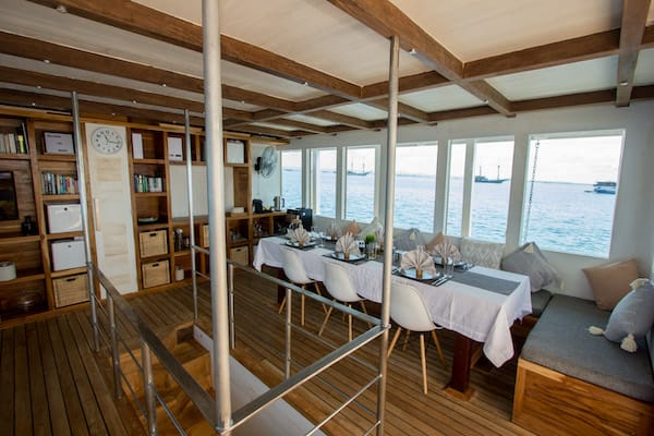 Fenides's 9-Day Komodo & West Komodo - Day Five - Dining Room