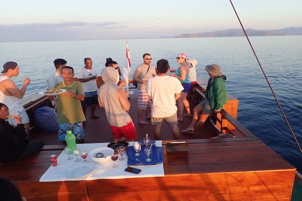 Lady Denok's 8-Day Komodo Cruise - Day Three - Sunset Cocktails