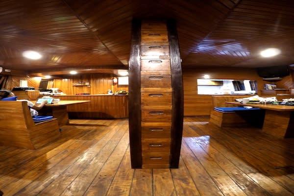 Lady Denok's 9-Day Komodo Cruise - Day Five - Dining Area