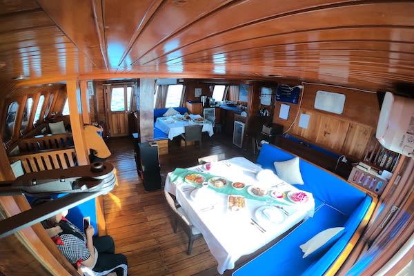 Lady Denok's 10-Day Komodo Cruise - Day Five - Breakfast On Board