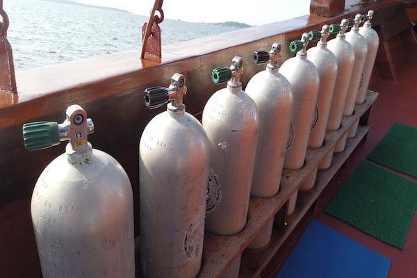 Lady Denok's 10-Day Komodo Cruise - Day Six - Nitrox Tanks for Diving