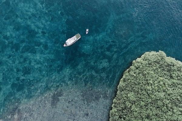 Splendour's 7-Day Raja Ampat - Day Seven - Boat Drone View