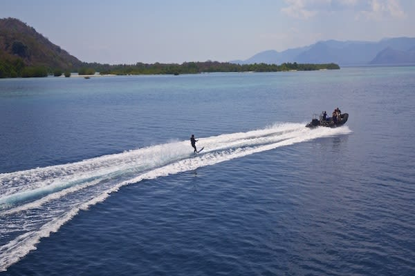 Tiger Blue's 8-Day Raja Ampat - Day Two - Wakeboarding