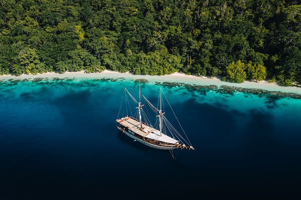 Senja's 9-Day Komodo Islands - Day One - Senja Drone View