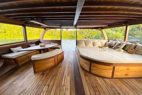 Senja's 9-Day Komodo Islands - Day Four - Chill Lounge on Deck
