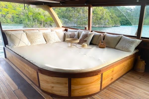 Senja's 12-Day Raja Ampat - Day Three - Private Relax Corner On Board