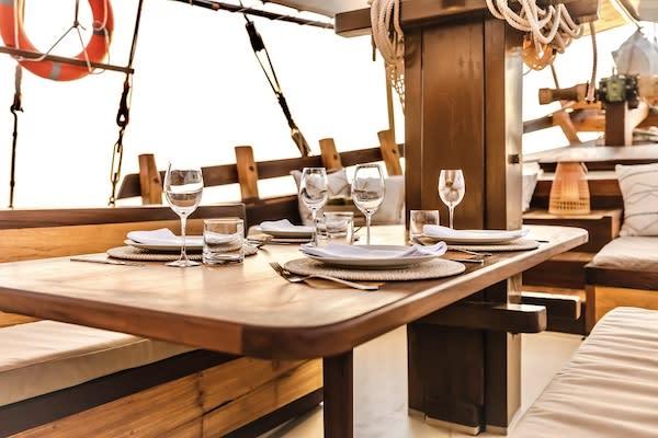 Senja's 12-Day Raja Ampat - Day Nine - Dining Table Set Up