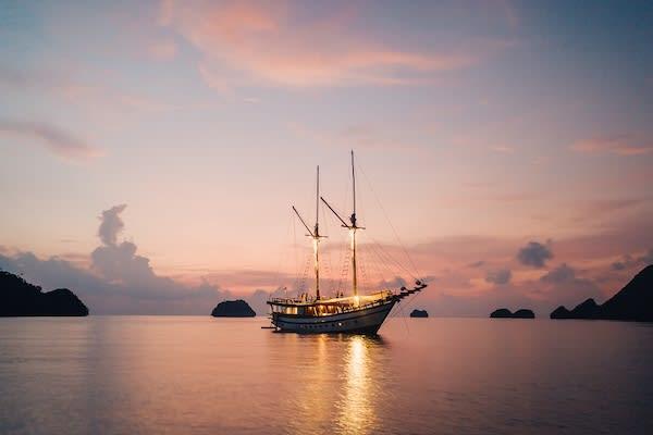 Senja's 11-Day Forgotten Island & Banda Sea Ring of Fire - Day Seven - Sunset On Board