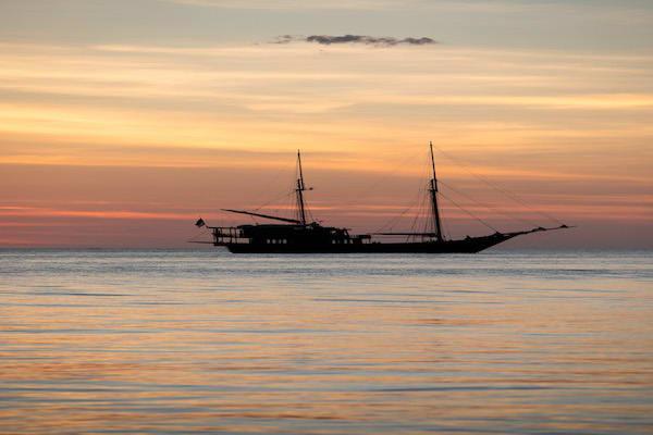 Dunia Baru's 11-Day Raja Ampat, West Papua & Papua - Day Ten - Dunia Baru in Sunset