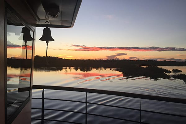 La Jangada's 12-Day In the Wild Amazonia Cruise itinerary Day One - Embarkation.