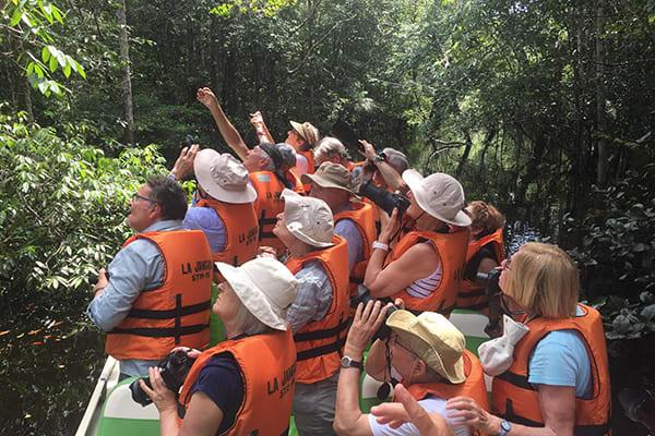 La Jangada's 12-Day In the Wild Amazonia Cruise itinerary Day Three - Skiff ride through the jungle.