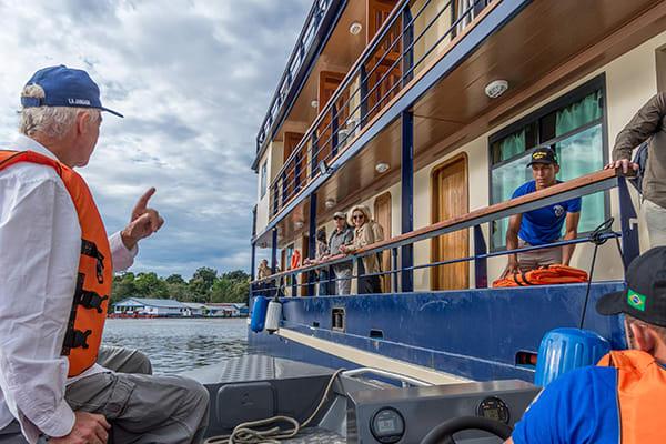 La Jangada's 12-Day In the Wild Amazonia Cruise itinerary Day Eight - Boat Ride.