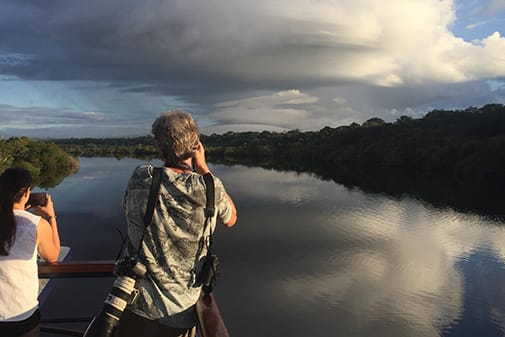 La Jangada's 12-Day In the Wild Amazonia Cruise itinerary Day Ten - Navigating down the river.