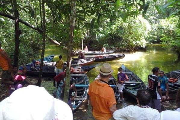 Amazon Dream's 7-Day New Years Cruise Itinerary Day Two - Small boat excursion.