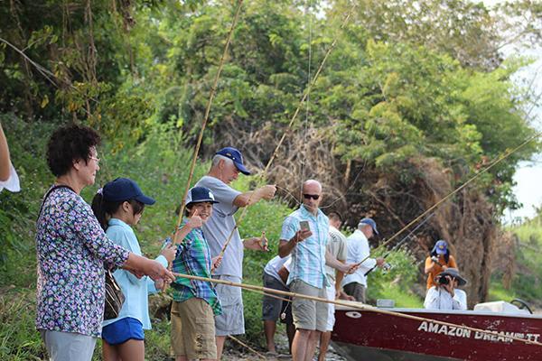 Amazon Dream's 10-Day Manaus Cruise Itinerary Day Two - Fishing.