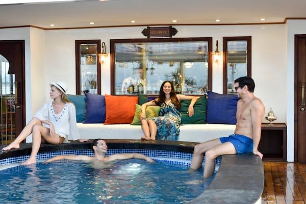 Sanctuary Ananda's 5-Day Mandalay to Bagan - Day Two - Guests Enjoying Pool