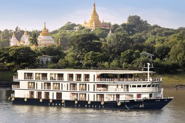 Sanctuary Anand's 5-Day Monywa Sailing - Day One - Sailing on Irrawaddy River
