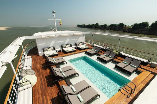 The Strand's 3-Day Mandalay to Bagan - Day Two - Pool on Deck