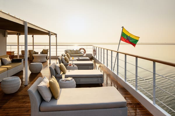 The Strand's 5-Day Bagan to Mandalay - Day Three - Sundeck Lounge