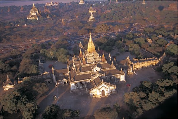 Irrawaddy Explorer's 6-Day The Royal Capitals Downriver - Day Four - Landscape Drone View