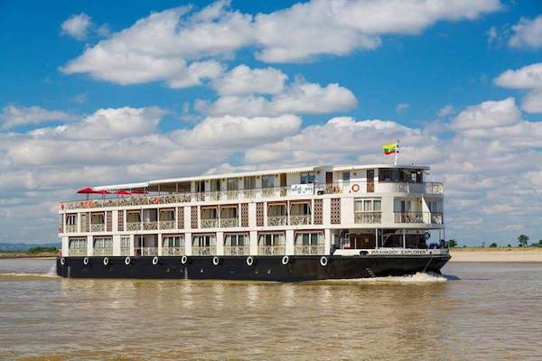 Irrawaddy Explorer's 10-Day Treasure of Golden Myanmar Upriver - Day One - Cruising along Irrawaddy River