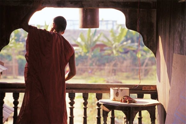 Irrawaddy Explorer's 10-Day Treasure of Golden Myanmar Upriver - Day Five - Monk