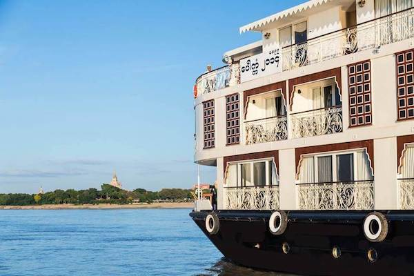 Irrawaddy Explorer's 10-Day Treasure of Golden Myanmar Upriver - Day Eight - Boat Side View
