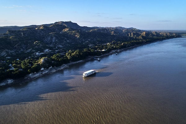 Irrawaddy Explorer's 10-Day Treasure of Golden Myanmar Upriver - Day Nine - Along Irrawaddy River Drone View