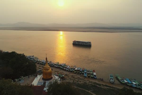 Irrawaddy Explorer's 10-Day Treasure of Golden Myanmar Upriver - Day Ten - Sunset