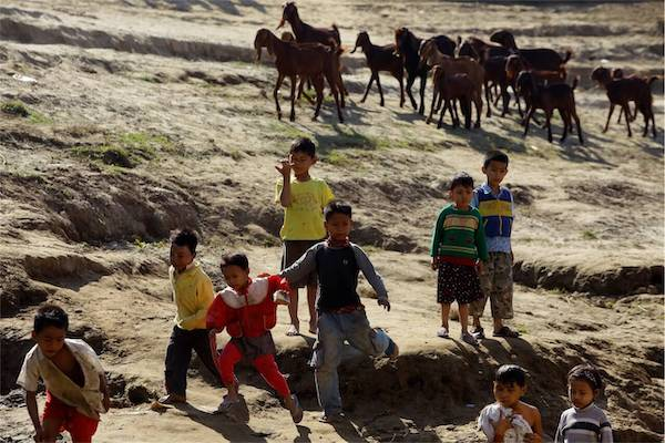 Irrawaddy Explorer's 10-Day Treasure of Golden Myanmar Downriver - Day Six - Local Kids Playing