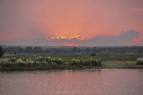 Pandaw II's 8-Day Bagan to Mandalay - Day Seven - Sunrise on Irrawaddy River