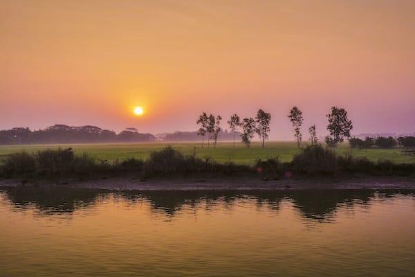 Pandaw II's 8-Day Mandalay to Bagan - Day Three - Sunset on Irrawaddy River