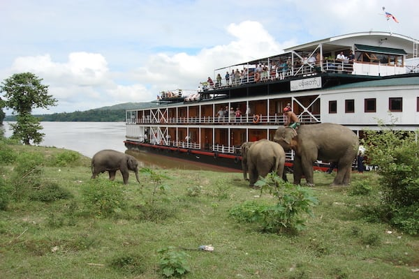 Pandaw II's 8-Day Mandalay to Bagan - Day Eight - Elephants by River Bank