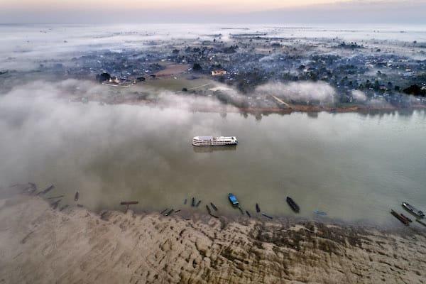 Paukan Princess' 11-Day Burmese Days Upriver - Day One - Paukan Princess on Irrawaddy River