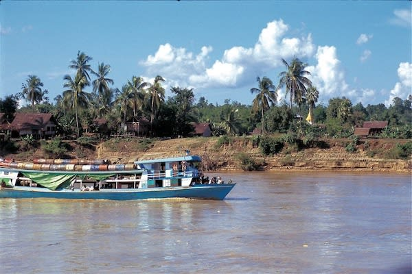 Paukan Princess' 11-Day Burmese Days Upriver - Day Six - Local Boat on Chindwin River