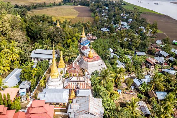 Zawgyi Pandaw's Chindwin: Monywa to Homalin - Day Four - Landscape Drone View Along Chindwin