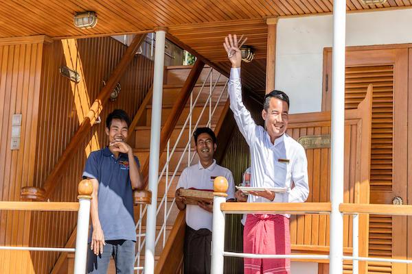 Zawgyi Pandaw's Chindwin: Monywa to Homalin - Day Five - Staff On Board