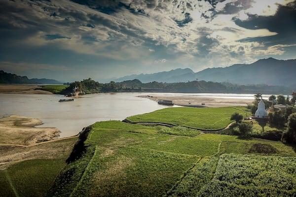 Zawgyi Pandaw's Chindwin: Monywa to Homalin - Day Eight - Rice Fields by Chindwin River