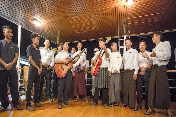 Zawgyi Pandaw's Chindwin: Homalin to Monywa - Day Two - Staff Band Performance