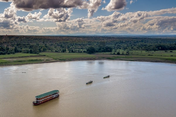 Zawgyi Pandaw's Chindwin: Homalin to Monywa - Day Three - Chindwin River Drone View