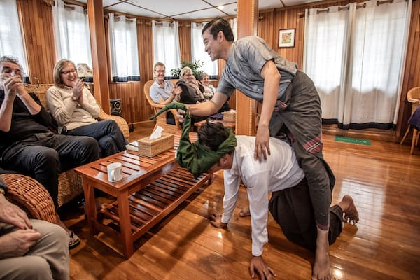 Zawgyi Pandaw's Chindwin: Homalin to Monywa - Day Four - Staff Performing Entertainment for Guests On Board
