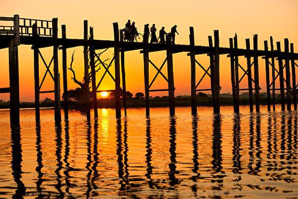 Kha Byoo Pandaw's Upper Irrawaddy: Bagan to Mandalay - Day Two - The Famous U-Bein Bridge
