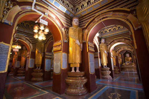 Kha Byoo Pandaw's Upper Irrawaddy: Mandalay to Bagan - Day Three - Inside a Pagoda