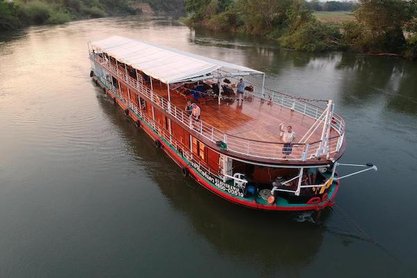 RV River Kwai's 4-Day Upriver Cruise - Day One - Boat Drone View