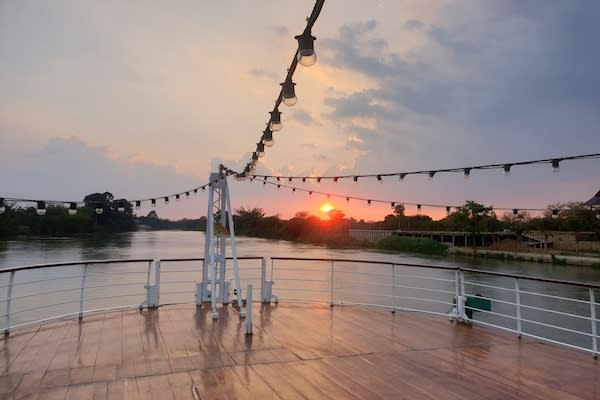 RV River Kwai's 4-Day Upriver Cruise - Day Four - Sunrise on Deck