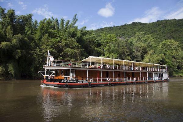 RV River Kwai's 4-Day Downriver Cruise - Day One - Cruising Along River Kwai