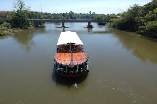 RV River Kwai's 7-Day Cruise - Day Five - Boat Drone View